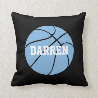 Carolina Blue Basketball Custom Name Throw Pillow