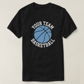 Carolina Blue Basketball Team, Player & Number T-Shirt