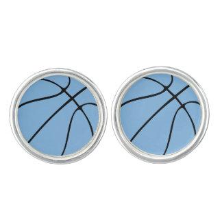 Carolina Blue Light Blue Custom Basketball Cufflinks