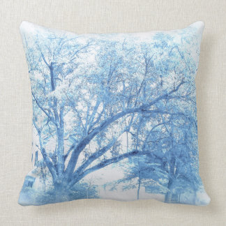 Carolina Blue Southern Oak Throw Pillow