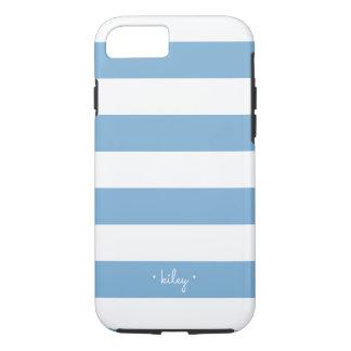 Carolina Blue Stripe Personalized iPhone 8/7 Case