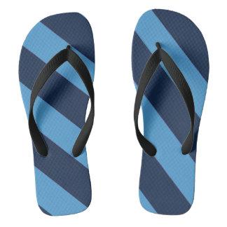 Carolina Blue Striped Flip Flops