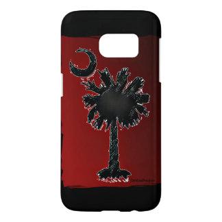 Carolina Designer Galaxy S7 Palmetto Red/Black Samsung Galaxy S7 Case