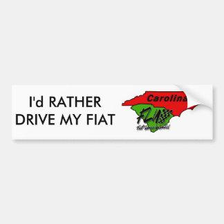Carolina_FLU_transparent_png, I'd RATHER DRIVE ... Bumper Sticker