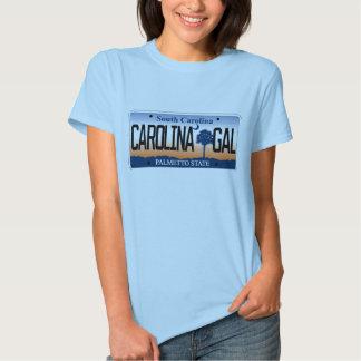 Carolina Gal South Carolina License Plate Tee Shirts