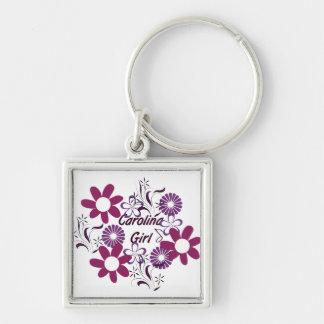 Carolina Girl ~ Purple Flowers Keychain