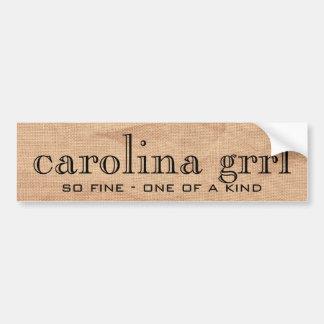carolina grrl canvass sticker bumper sticker