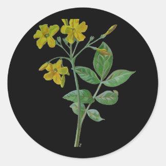 Carolina Jasmine Classic Round Sticker
