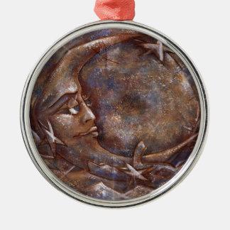 Carolina Moon - Blue/Copper 01# Var. Metal Ornament