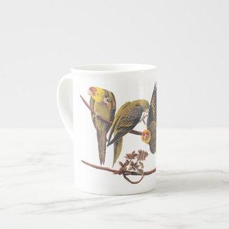 Carolina Parakeet Trio Tea Cup