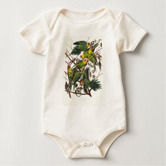 Carolina Parrot - John James Audubon (1827-1838) Baby Bodysuit