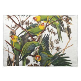 Carolina Parrot - John James Audubon (1827-1838) Placemat