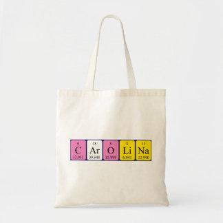 Carolina periodic table name tote bag