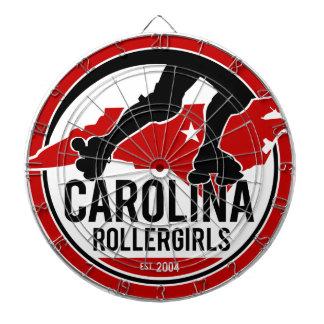 Carolina Rollergirls dart board