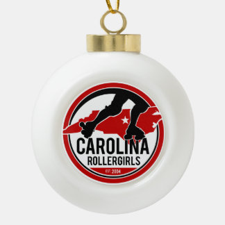 Carolina Rollergirls holiday ornament