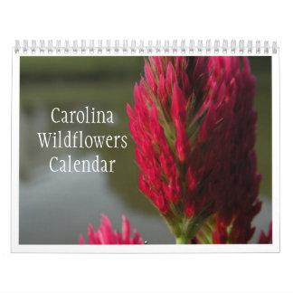 Carolina Wildflowers Calendar  2012