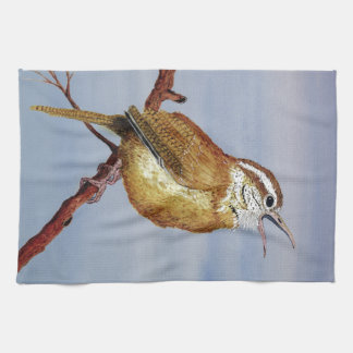 Carolina Wren dish Towel