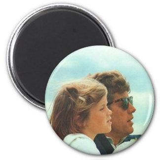 Caroline and John F. Kennedy 2 Inch Round Magnet