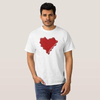 Caroline. Red heart wax seal with name Caroline.pn T-Shirt