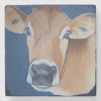 'Caroline's Cow' Stone Coaster