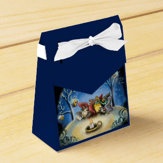 Caroling Birds Christmas Favor Box