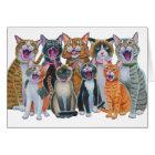 Caroling Cats Card