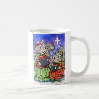 Caroling Christmas Squirrels - Cute Mug