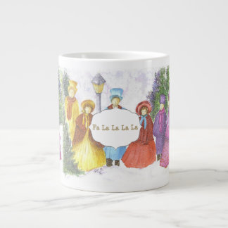 CAROLING IN THE SEASON LARGE COFFEE MUG
