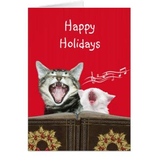 Caroling kitties card