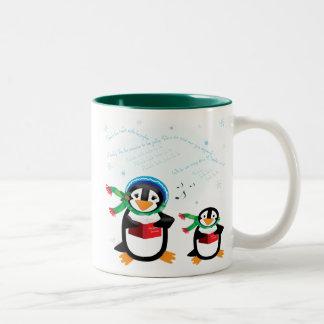 Caroling Penguins - Deck the Halls Mug