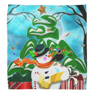Caroling Snowman Bandanas