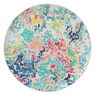 Carolyn Joe Art Melamine Plates