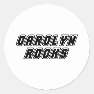 Carolyn Rocks Classic Round Sticker