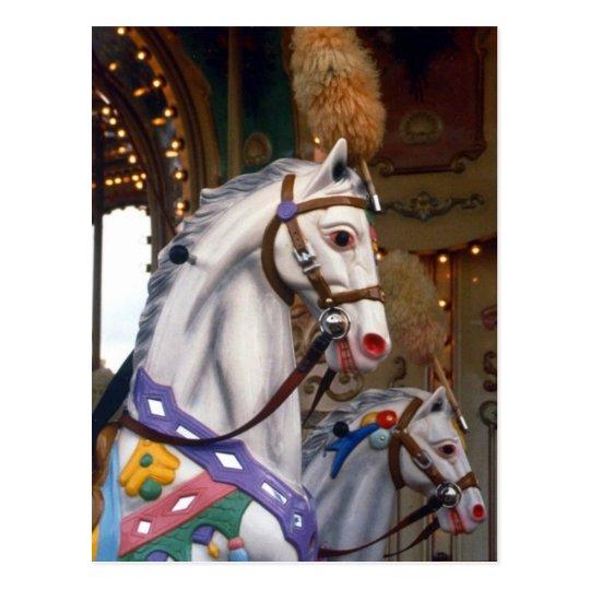 carousal pony postcard