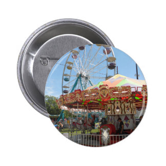 Carousel and Ferris Wheel at the Fair 2 Inch Round Button