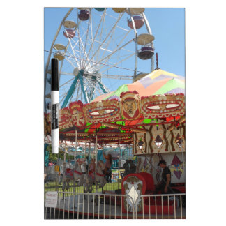 Carousel and Ferris Wheel at the Fair Dry Erase Boards