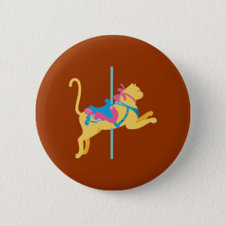 Carousel Animal Cat 2 Inch Round Button