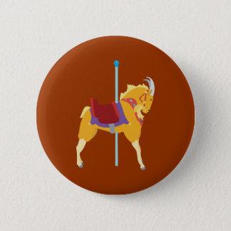 Carousel Animal Goat 2 Inch Round Button