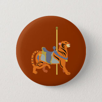 Carousel Animal Tiger 2 Inch Round Button