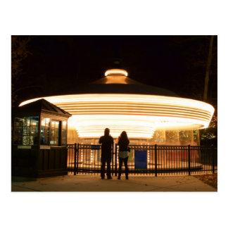 Carousel at Night Postcard