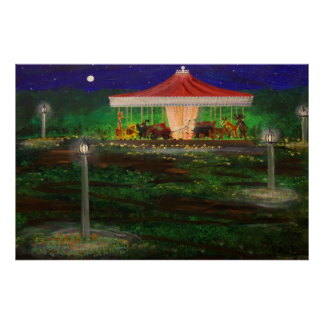 Carousel at night poster