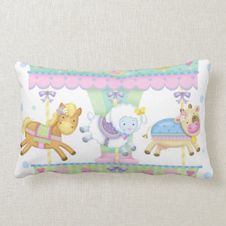 Carousel Baby Lumbar Pillow