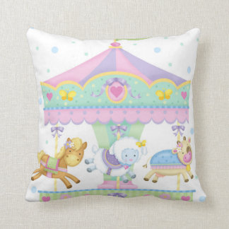 Carousel Baby Square Pillow