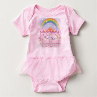 Carousel Baby Tutu Bodysuit, Pink, Personalize Baby Bodysuit
