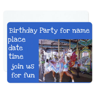 CAROUSEL *****CHILD'S PARTY INVITATION***** CARD