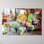 Carousel - Coney Island, NYC postcard Poster