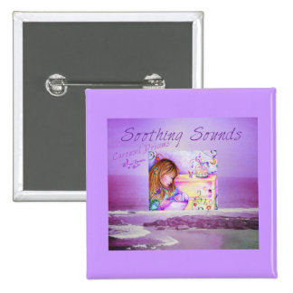 Carousel Dreams Purple Ocean Square Button