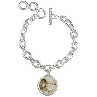 Carousel Dreams Vintage Silver Charm Bracelet