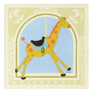 Carousel Giraffe by June Erica Vess Acrylic Wall Art