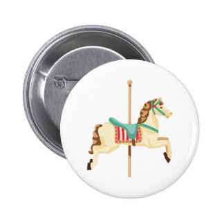 Carousel Horse 2 Inch Round Button